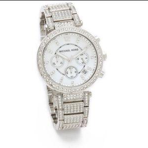 Michael Kors Glitz Parker Watch in Silver